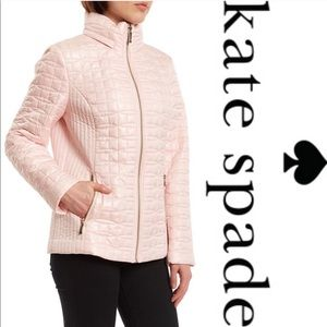 NEW • Kate Spade • Bow Moto Jacket Pink Quilted S